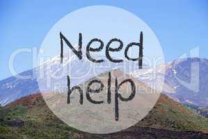Vulcano Mountain, Text Need Help, Norway Nature