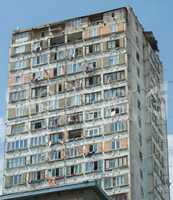 Run-down apartment building