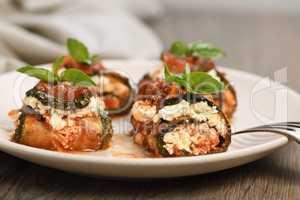 Zucchini Rolls with Ricotta