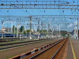 Infrastructure of railway station of Khmelnytskyi, Ukraine