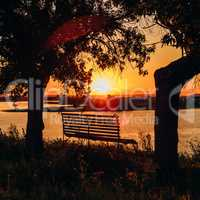 Bench by the River.