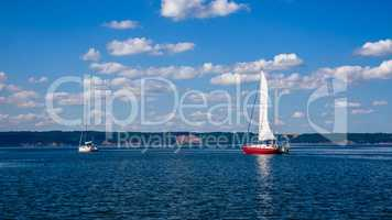 Two Sailing Boats.