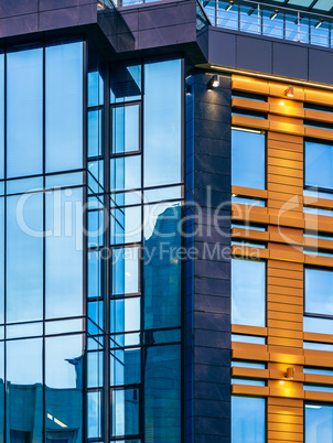 Modern building with a glass facade.