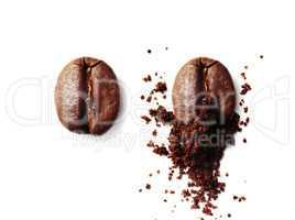 Grinding coffee bean