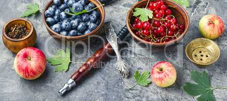Arabia shisha with berries and apple