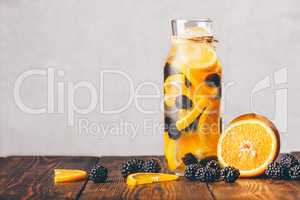 Water with Orange and Blackberry.