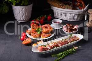 dates wrapped in bacon and delicious tapas