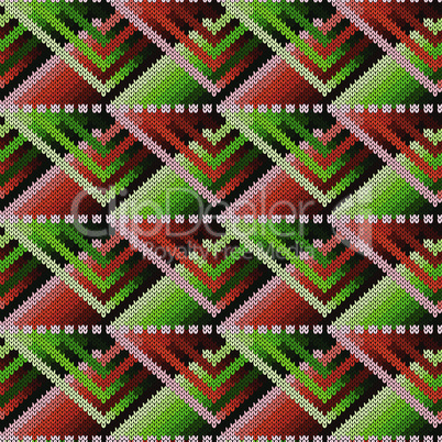 Knitted ornate seamless abstract pattern