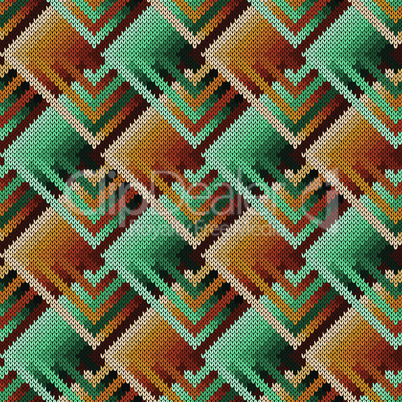 Abstract knitted ornate seamless pattern