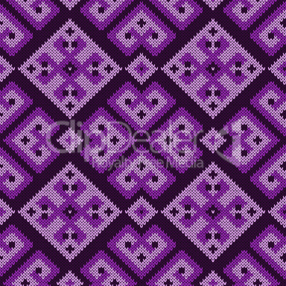 Knitted ornate seamless pattern