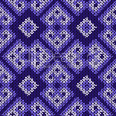 Seamless ornate knitted abstract pattern