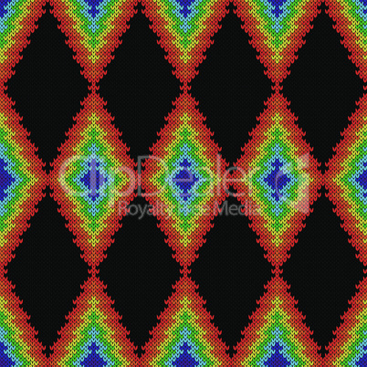 Contrast knitted seamless ornate pattern