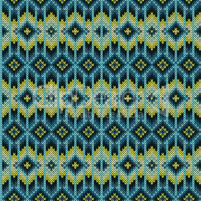Knitted seamless geometric pattern