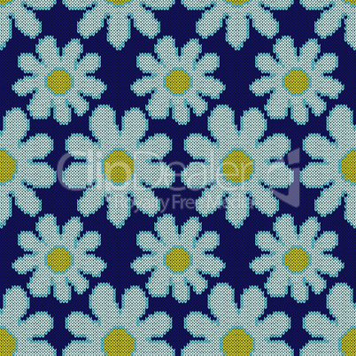 Abstract knitted seamless floral pattern