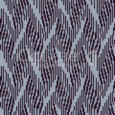 Abstract knitted seamless pattern