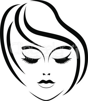 Abstract face of beautiful woman