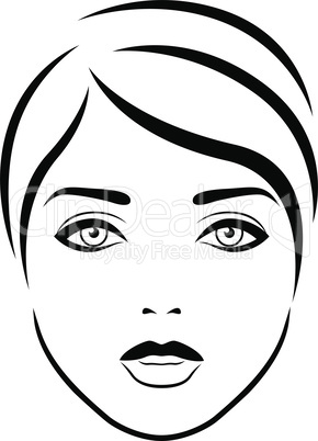 Abstract beautiful and sensual female face