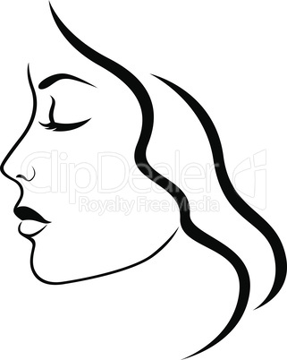 Abstract face of beautiful girl