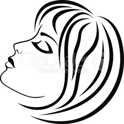 Abstract charming girl with sensual face