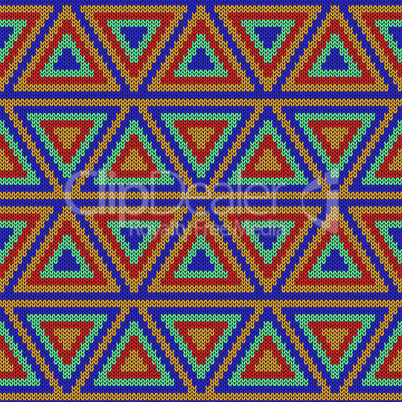 Knitted ornate seamless decorative pattern
