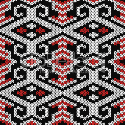 Ornate seamless knitted pattern