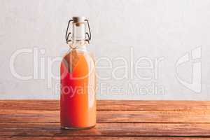 Bottle of grapefruit juice