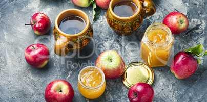 Jam from ripe apples