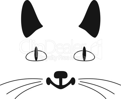 Outlines of a muzzle of a cat