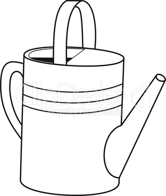 Outlines of garden watering can