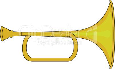Small brass trumpet