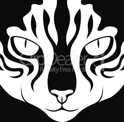 Stencil of a cat's muzzle looking