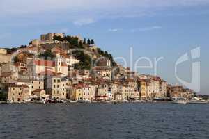 The bay and town of Sibenik, Croatia
