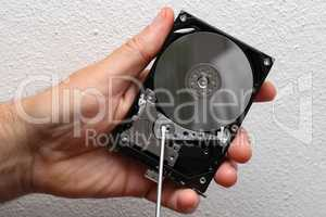 Computer - Open external hard drive is repaired