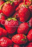 Background of ripe strawberry