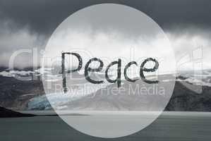 Glacier, Lake, Text Peace, Beautiful Norway Landscape
