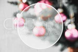 Blurry Pruple Balls, Copy Space, Christmas Tree