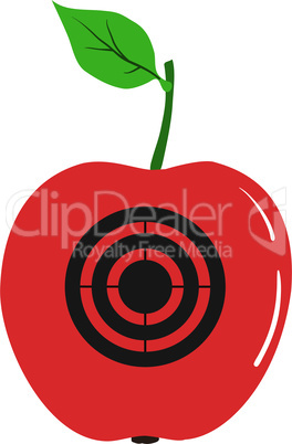 Apple with a target