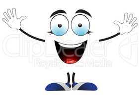 Joyful smiling creature