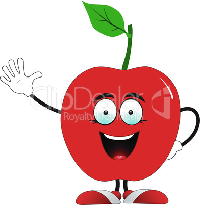 Red apple says hello