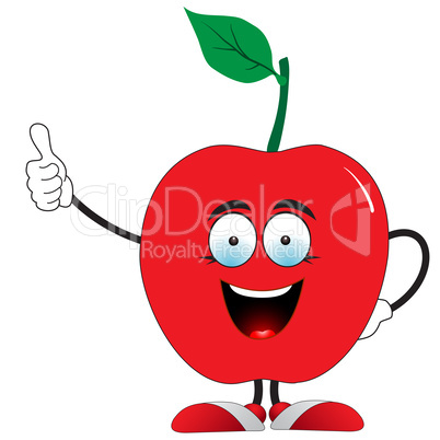 Red apple says super