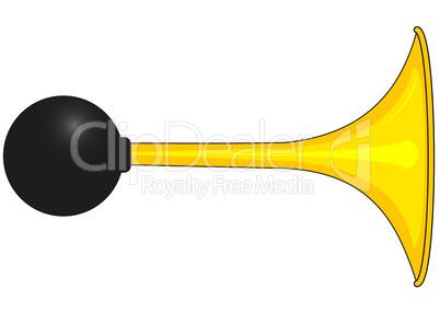 Yellow car horn