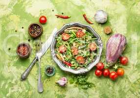 Salad with asparagus beans