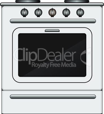 Kitchen stove with oven