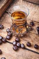 Turkish tea on wooden table