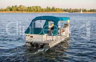 Pleasure boat in Kherson, Ukraine,