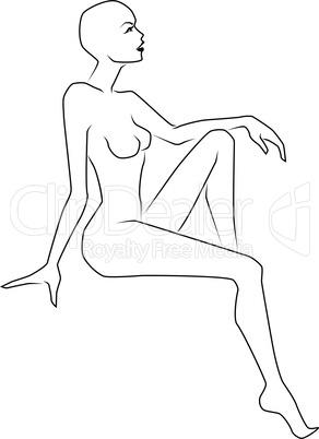 Sensual lady sitting in beautiful pose
