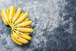 Bunch of ripe yellow bananas