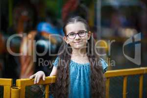 Child girl with long hair