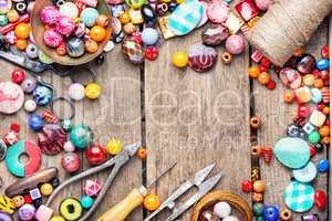 Set of bright beads