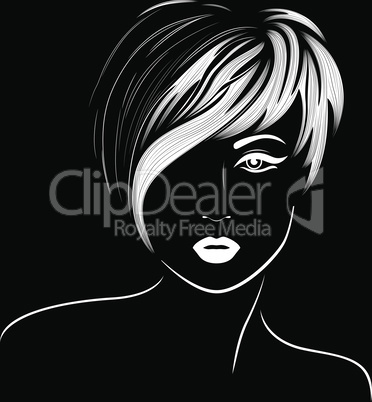 Girl with stylish short hair
